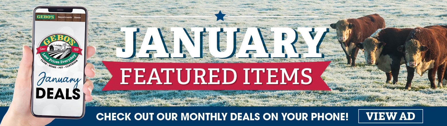 January Featured Items Ad