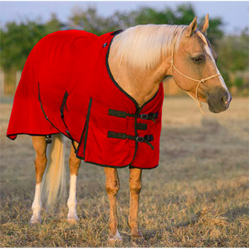 "84"" Mustang Manufacturing 1200 Denier Turn-Out Blanket - Red - Gebo's"