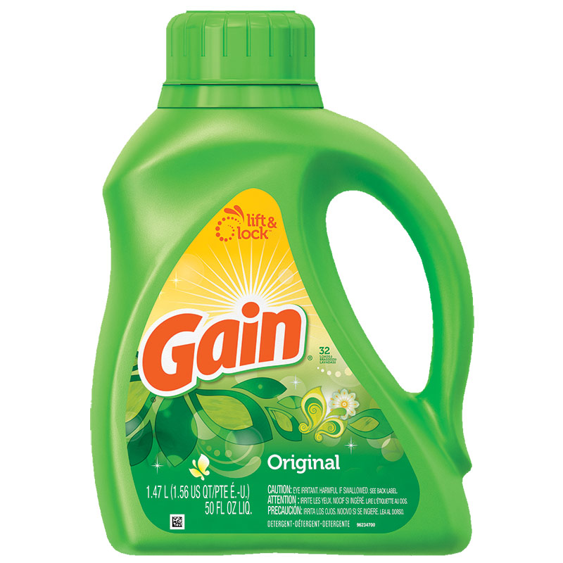 50 Oz. Gain Original Laundry Detergent - Gebo's