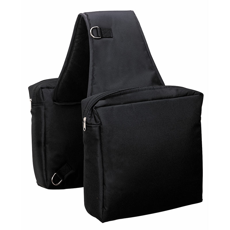 Weaver Leather Heavy-Duty Nylon Saddle Bag - Black - Gebo's