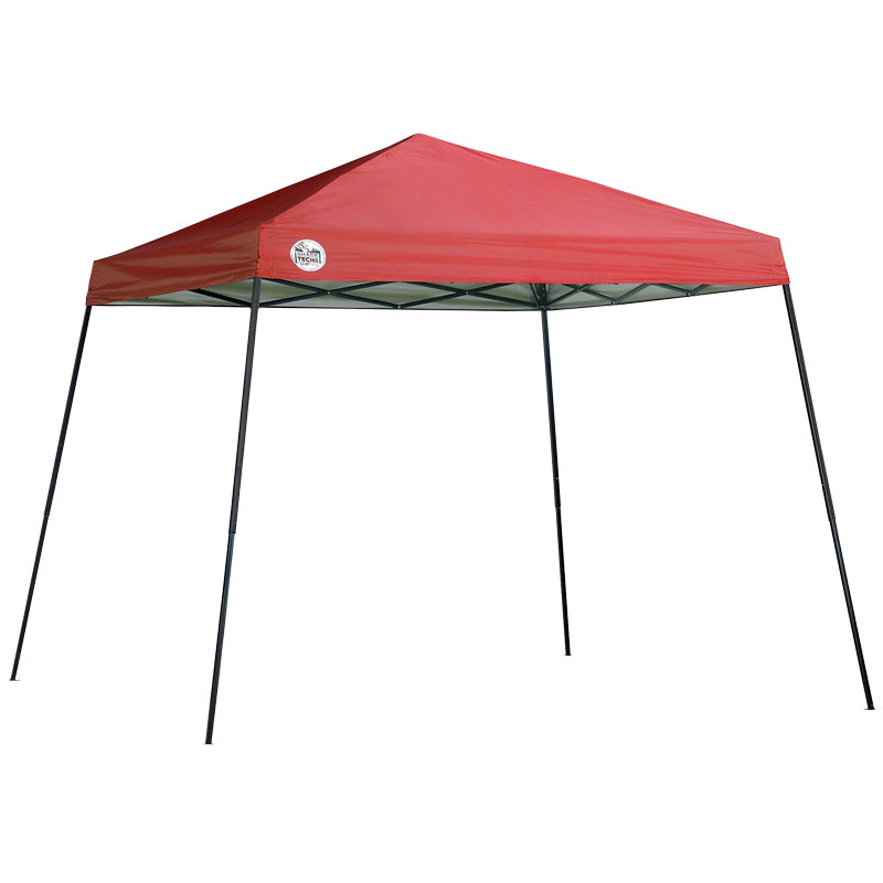 10'x10' ShadeTech Red Canopy Slant Legs With Bag - Gebo's