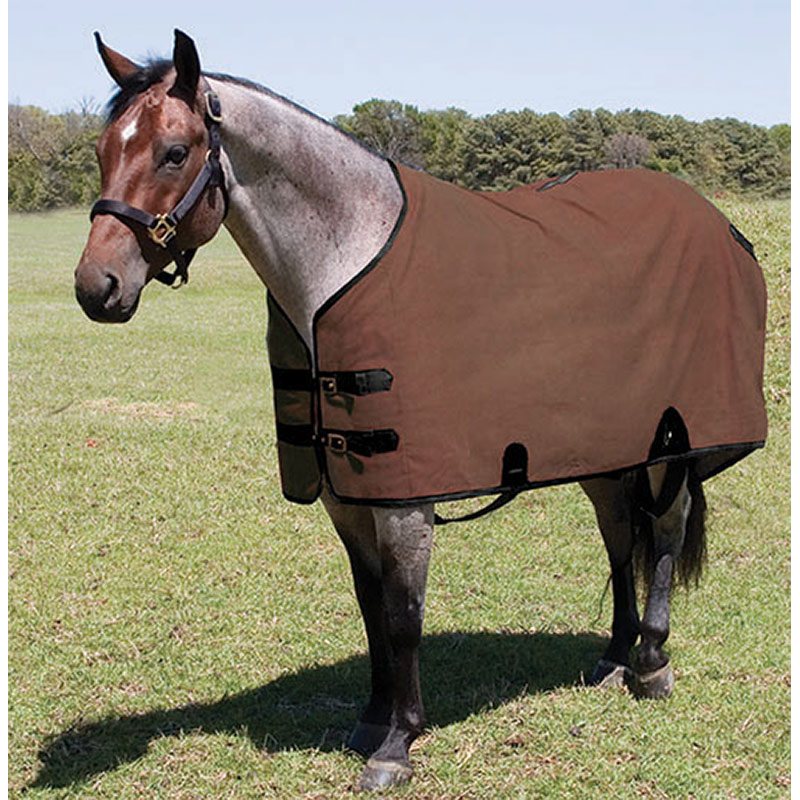 "74"" Mustang Manufacturing Canvas Stable Blanket - Brown - Gebo's"