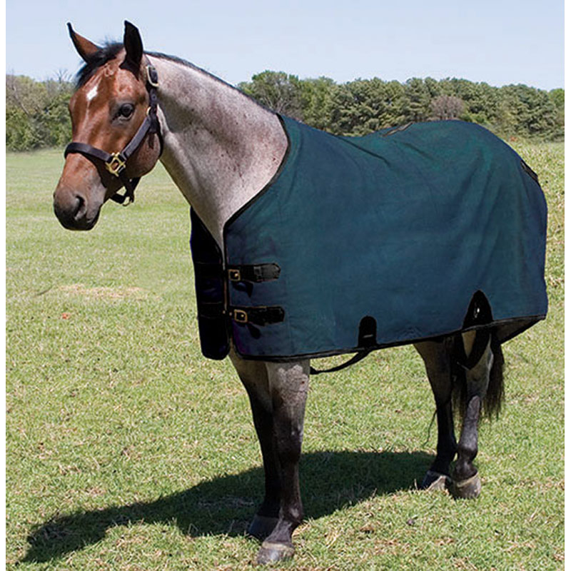 "82"" Mustang Manufacturing Canvas Stable Blanket - Navy - Gebo's"