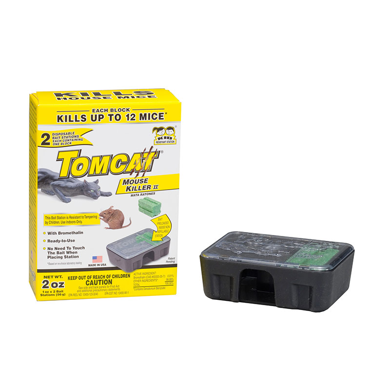 2 Pk. Motomco Tomcat Mouse Killer Disposable Bait Station - Gebo's