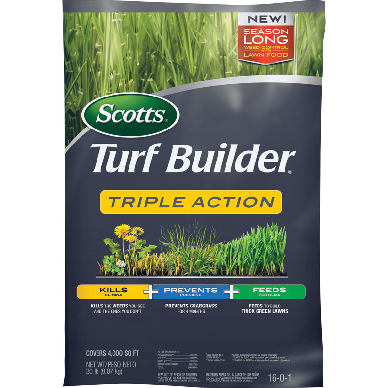 4,000 Sq. Ft. Scotts Turf Builder Triple Action Weed & Feed - Gebo's