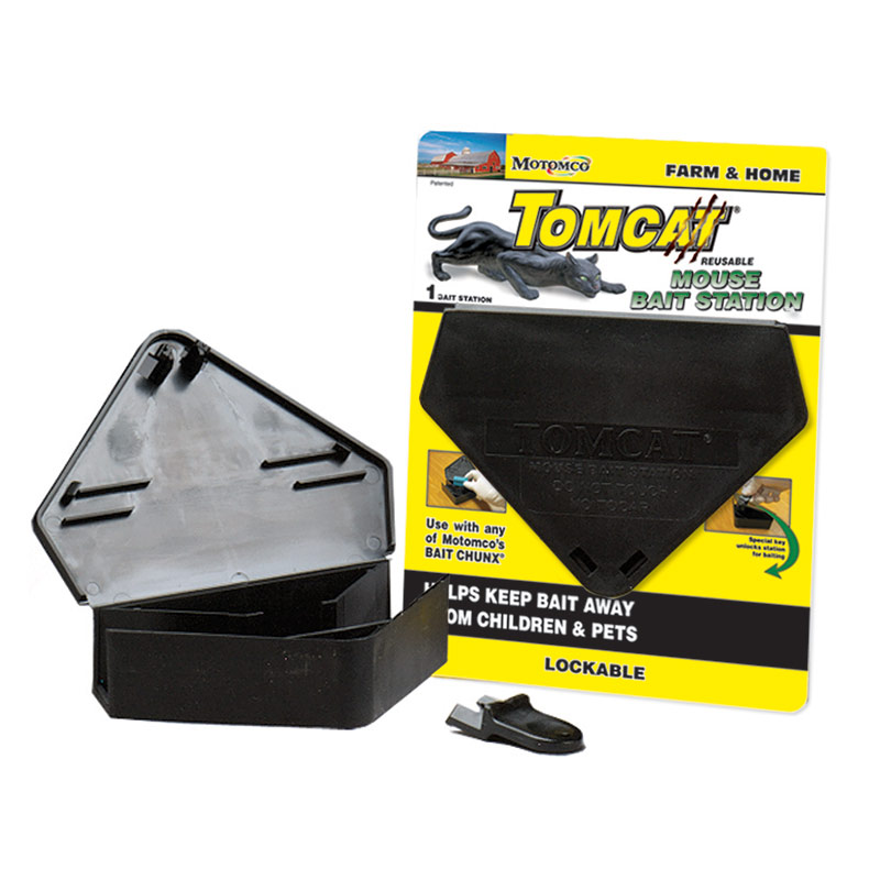 Motomco Tomcat Triangular Mouse Bait Station - Gebo's