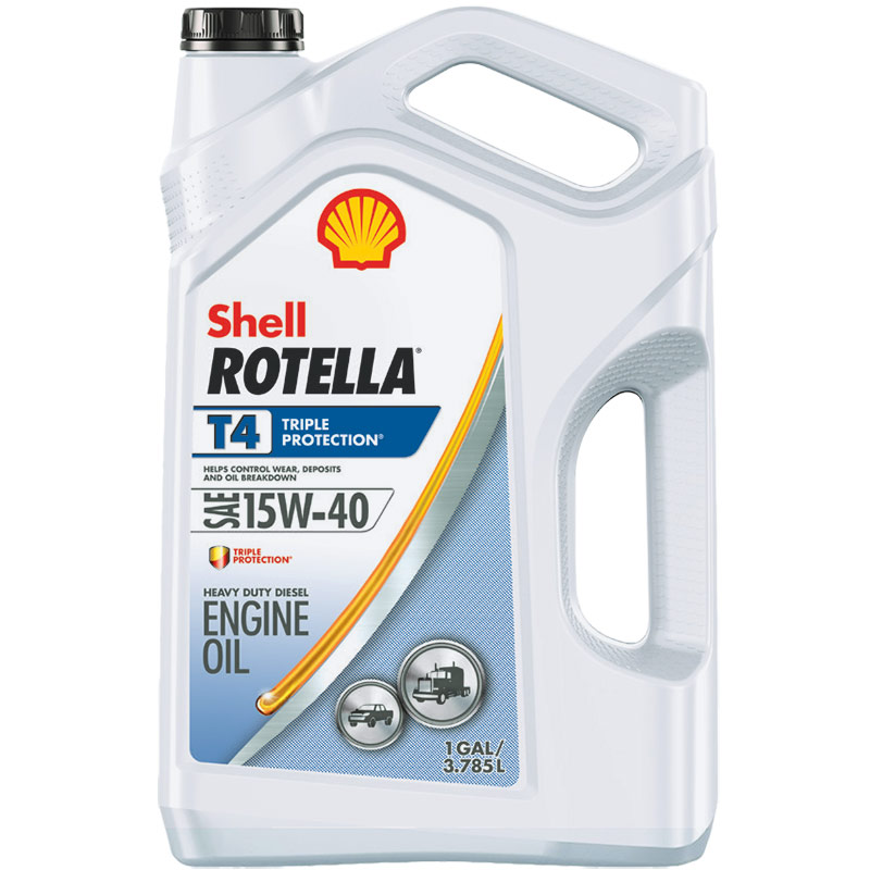 1 Gal. Rotella T4 Triple Protection SAE 15W-40 Heavy-Duty Diesel Engine Oil - Gebo's