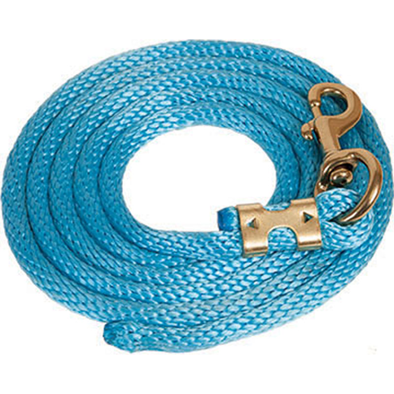 "5/8""x9' Mustang Manufacturing Nylon Lead Rope - Aqua - Gebo's"