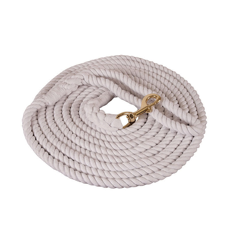 "5/8""x25' Mustang Manufacturing Cotton Lunge Line - White - Gebo's"