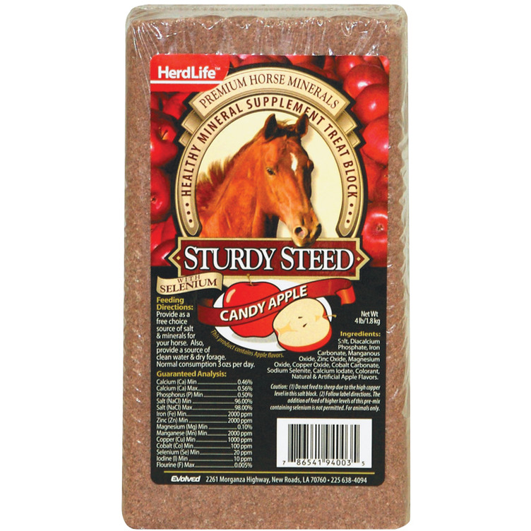 4 Lb. Evolved Habitats HerdLife Sturdy Steed Candy Apple - Gebo's