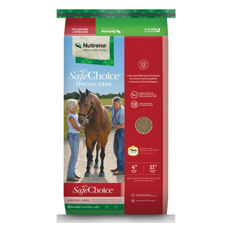 50 Lb. Nutrena Safe Choice Special Care Horse Feed - Gebo's