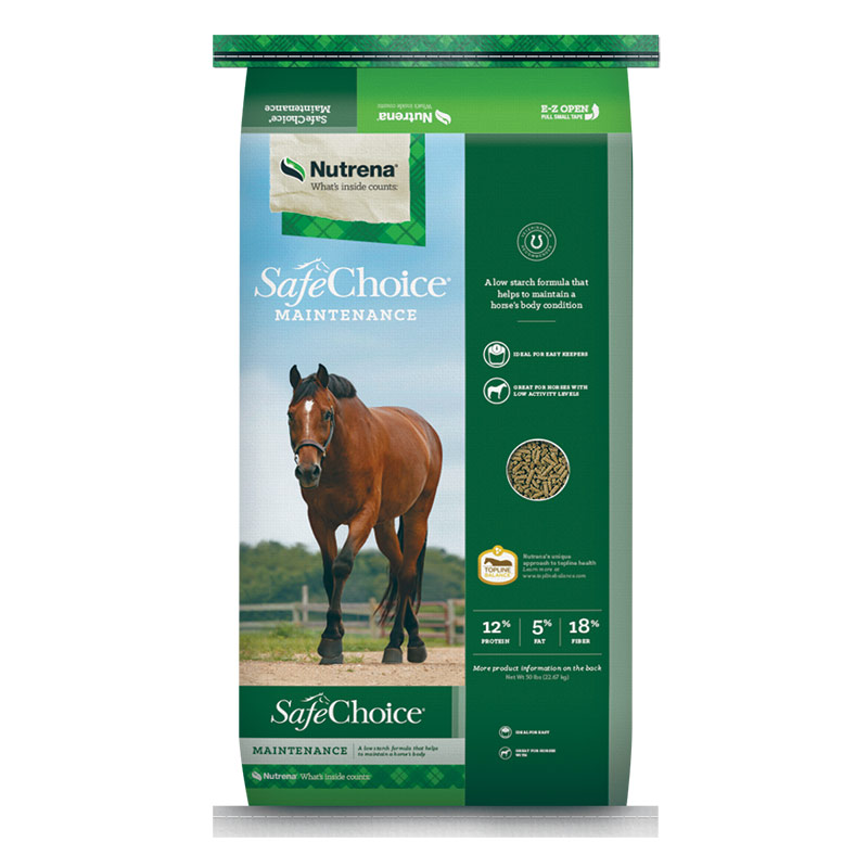 50 Lb. Nutrena Safe Choice Maintenance Horse Feed - Gebo's