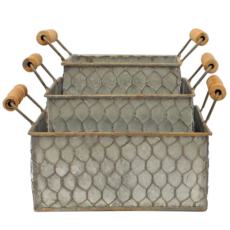 M&F Chicken Wire Hand Baskets - Gebo's