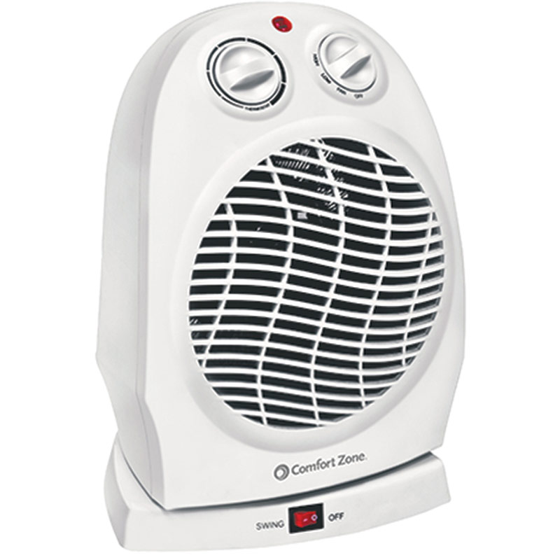 Comfort Zone Oscillating Ceramic Heater/Fan - Gebo's