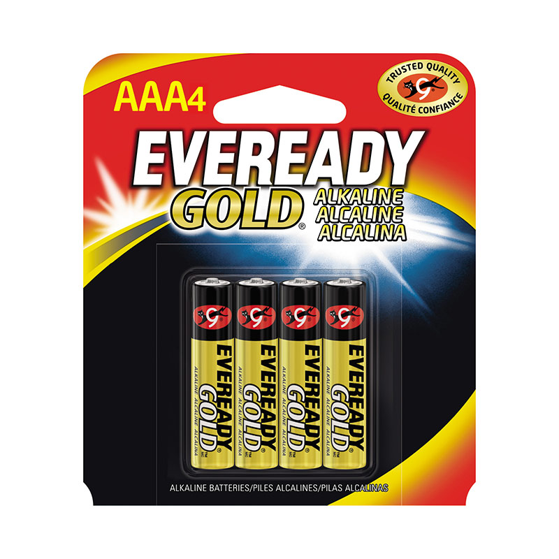 4 Pk. Eveready Gold Alkaline AAA Battery - Gebo's
