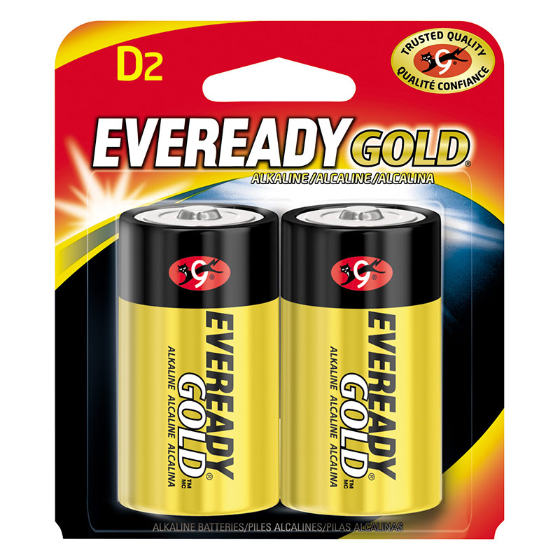 2 Pk. Eveready Gold Alkaline D Battery - Gebo's