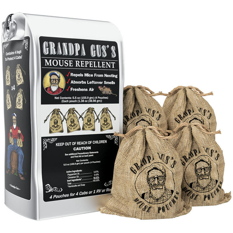 4 Pk. Grandpa Gus Mouse Repellant Pouches - Gebo's