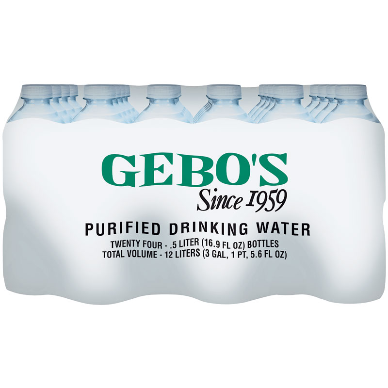 24-Pk. Purified Drinking Water - Gebo's