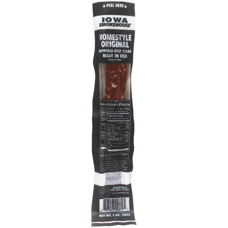 2 Oz. Iowa Smokehouse Homestyle Original Kippered Beef Steak - Gebo's