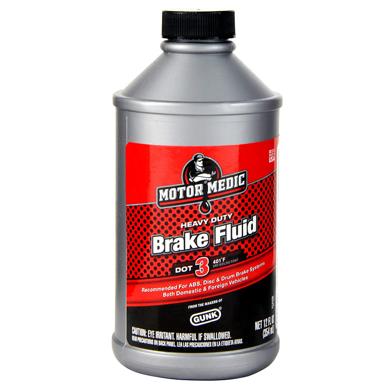 12 Oz. Motor Medic Brake Fluid HD DOT 3 - Gebo's