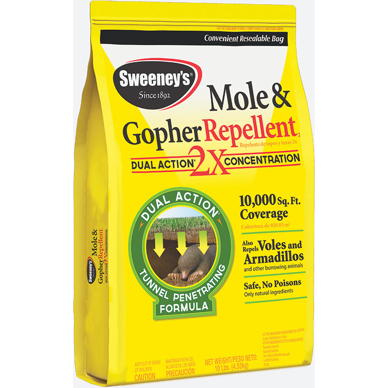 10 Lb. Sweeney's Mole & Gopher Repellent Granules - Gebo's