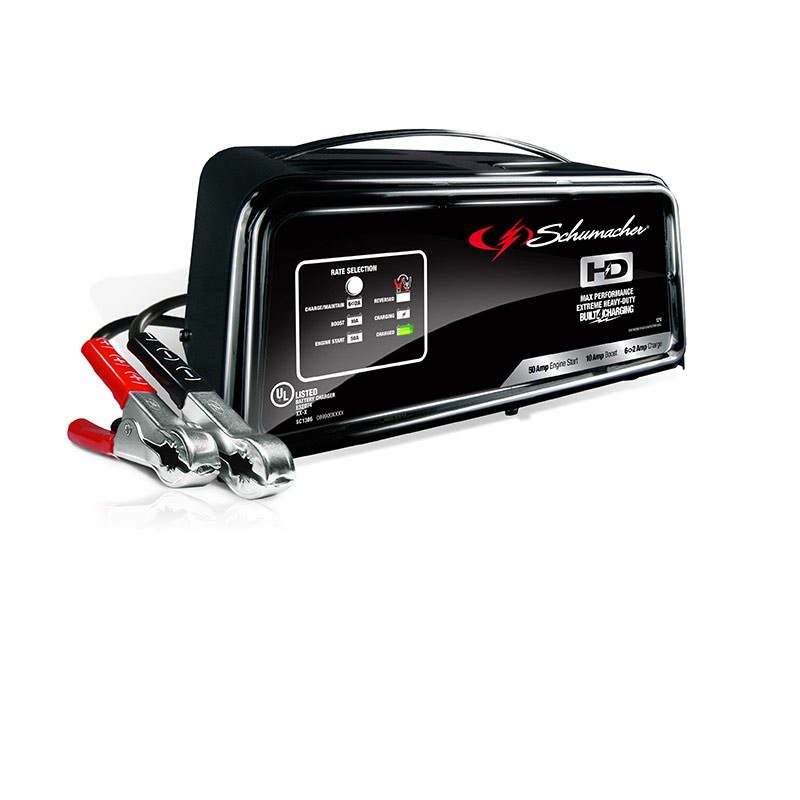 50/10/6-2 AMPS 12V Fully Automatic Battery Charger/Engine Starter - Gebo's
