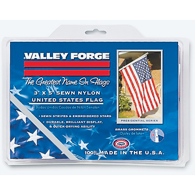 3'x5' Valley Forge Nylon Replacement Flag - Gebo's
